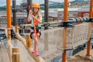 girl at Lumberjack Adventure Park