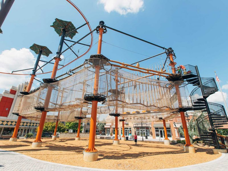 high woodsman challenge ropes course