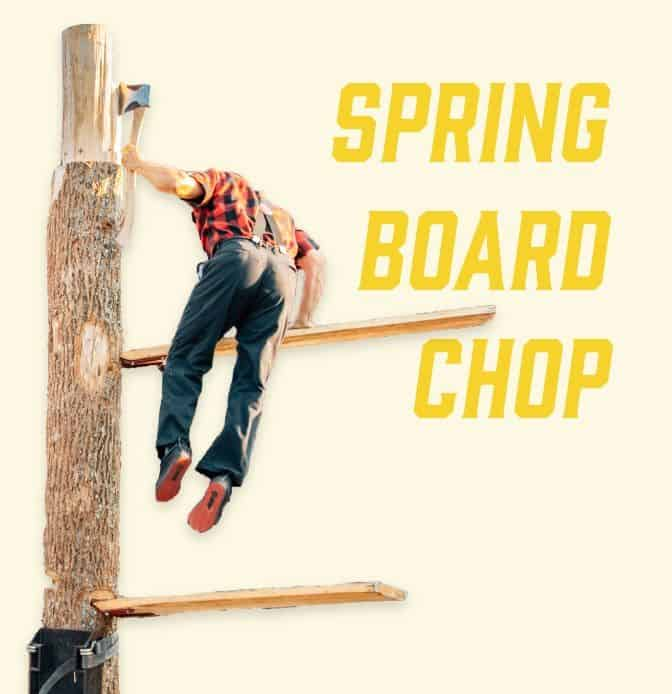climbing up the log during spring board chop lumberjack feud